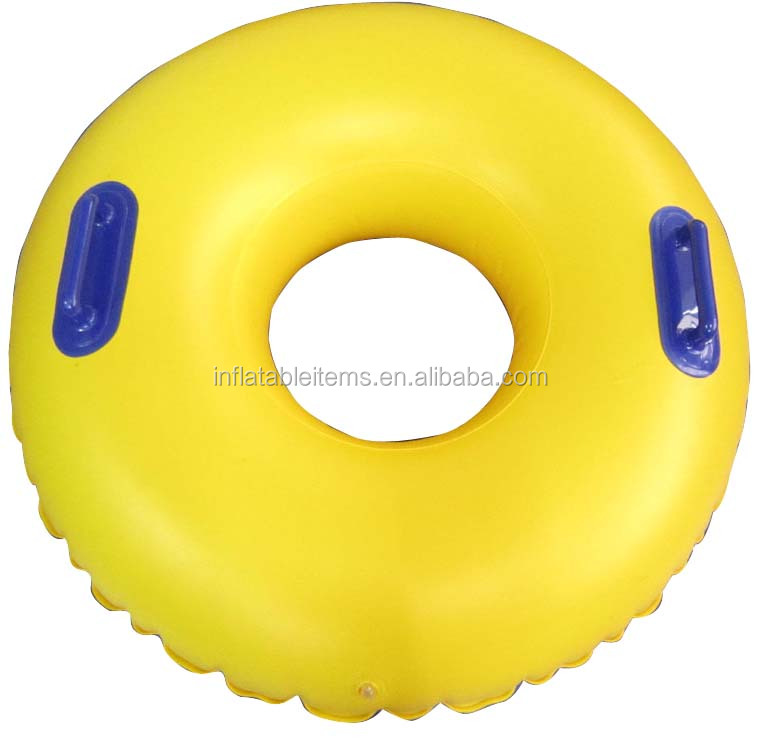 customized inflatable waterpark tube with two hands