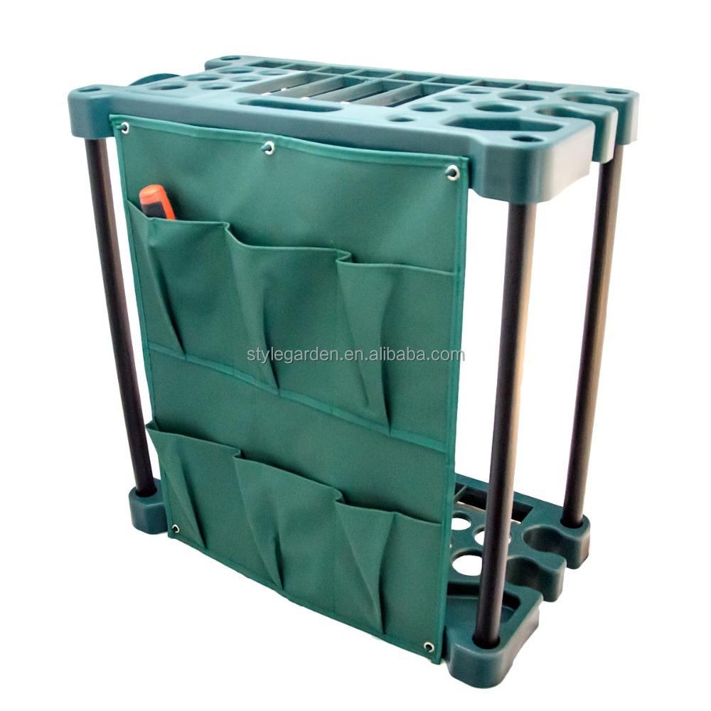 Wooden Handle Garden Hand Tool Tidy Bag Holder Storage Organizer