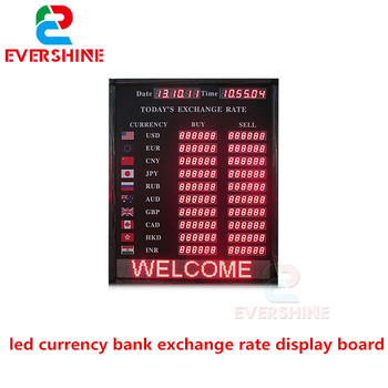 Evershine 2018 Best Er Product Led Currency Bank Exchange Rate Display Board