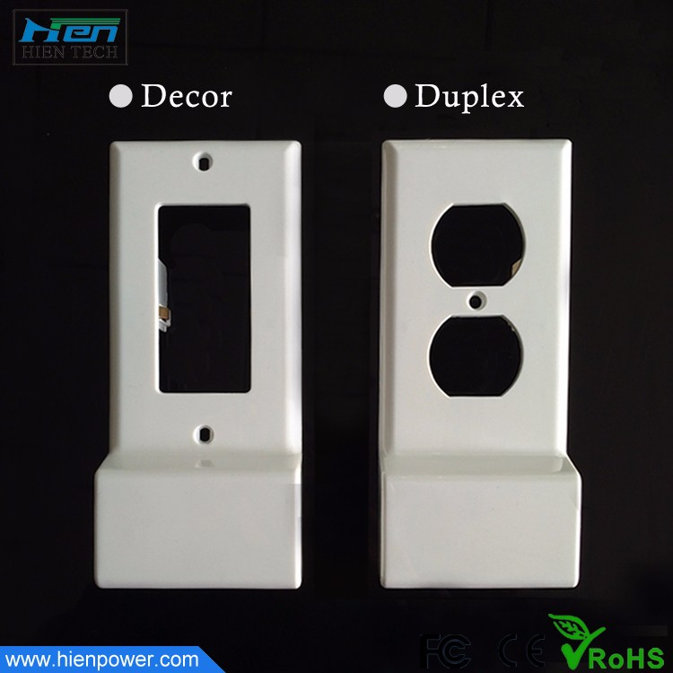 Decor and Duplex Two Design 2 USB Outlet Cover Plates for US Wall Outlet