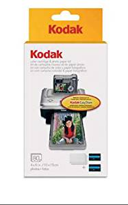 Kodak PH-80 EasyShare Printer Dock Color Cartridge & Photo Paper Refill Kit