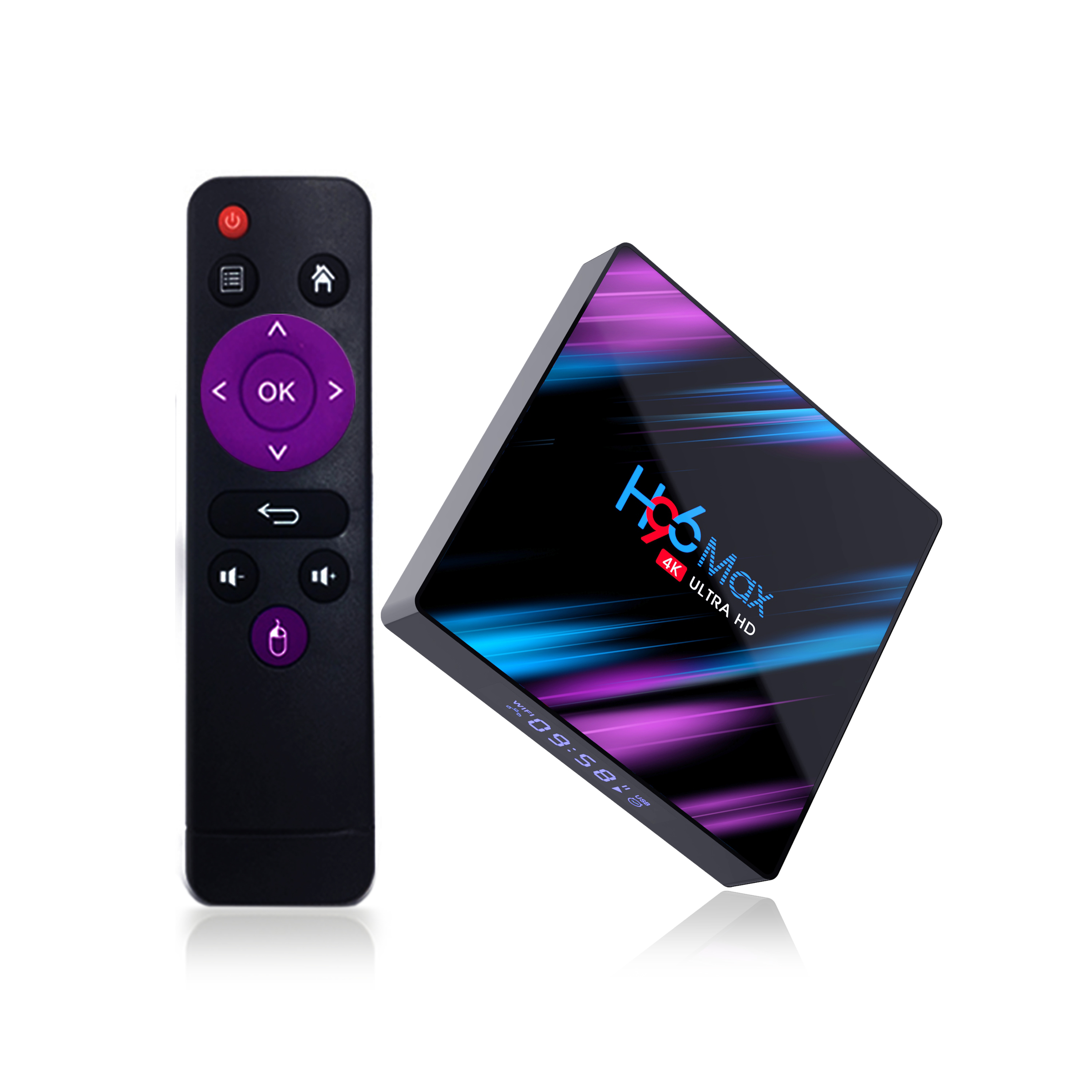 Android 9.0 TV Box H96 MAX 3318 Rockchip RK3318 Quad Core RAM 4GB ROM 32GB 64GB Dual Wifi UHD OS Media <strong>Player</strong>