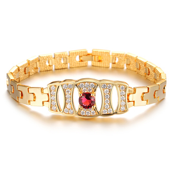 Online Ping Site 18k Yellow Gold Bracelet Saudi Arabia With Ruby