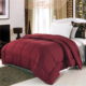 Luxury Goose Down Alternative Double Fill Comforter (Duvet Insert), TWIN/TWIN XL SIZE, Solid Color Polyester Quilt