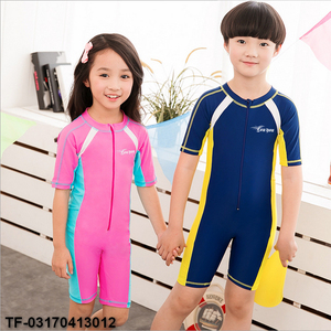 Children One-piece Swimsuit,Boy&Girl Anti-UV UPF 50+ Sunscreen Wetsuit,Diving Suits,Waterproof,Quick-dry Short Sleeves Swimwear