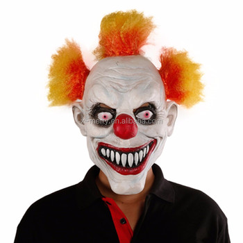 x merry toy scary clown mask pennywise clown mask wide smile latex evil adult creepy