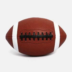 Premium Machine Stitching PU Size 9 Excellent Durability Official Game American Football Rugby Ball