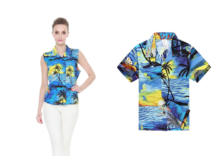b95e0b792f81 Hawaii Hangover Matching Mother Son Hawaiian Luau Women Shirt Boy Shirt  Blue Sunset