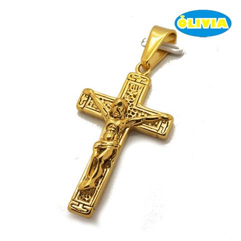 Оливия в наличии нержавеющая сталь бедра хмель Иисус крест кулон 18 к позолоченные ювелирные изделия оптовая продажа для мужчин религиозн