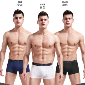 2018 New Style High Quality Comfortable Soft One Piece Ice Silk Fashion Mens Boxer