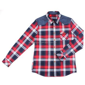 Departwest Plaid Shirt Men S Shirts In Orange Grey 417163