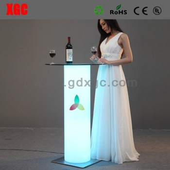 New arrived light up tables, led table and chair set,outdoor led table and chair set