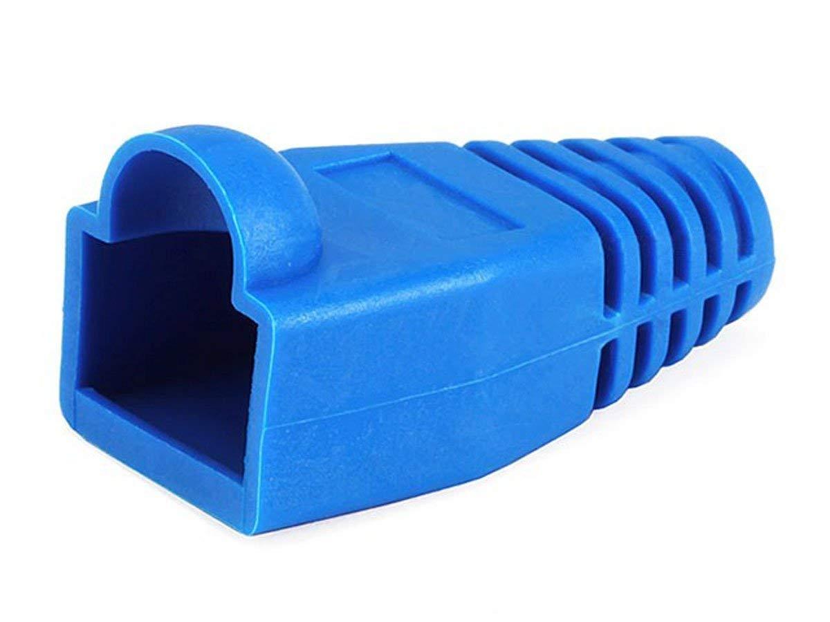 Monoprice [50pcs] RJ-45 Color Coded Strain Relief Boots - BLUE (2 Pack)