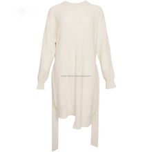 Factory Wholesale New Design Wool Blend Knitted Women's Long Sweater