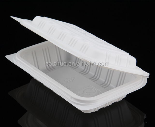 wholesale disposable take away lunch box biodegradable plastic food container to indian