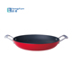 Light Weight Enamel Cast Iron Frying Pan /Paella Pan/Baking Pan with two S/S handle