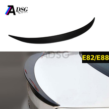 E82 E88 performance style carbon fiber rear trunk lip spoiler for bmw 1 series 2008 - 2011