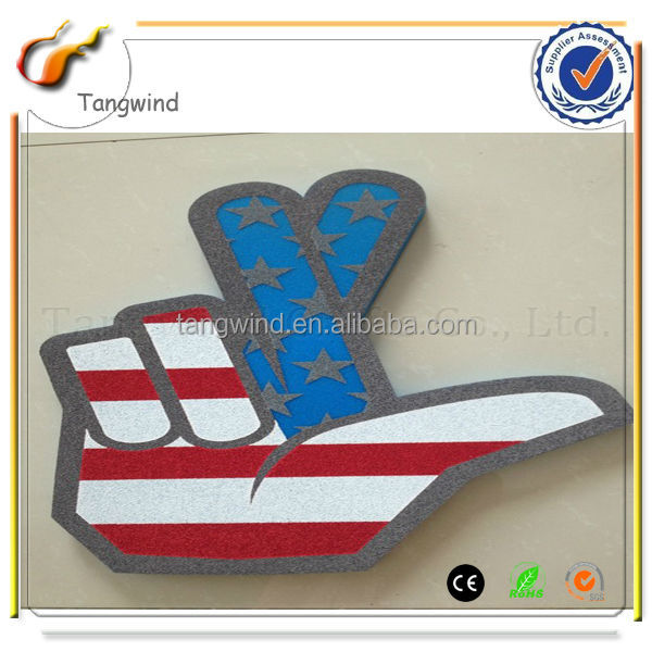TW12020 Eco-friendly Silk Print Custom Foam Hands Promotional Products