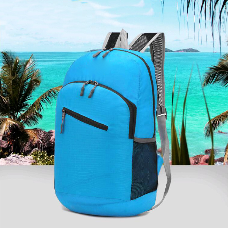 OEM logo Lightweight foldable traveling backbag