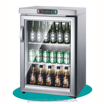 Greenu0026Health Glass Door Mini Fridge For Beer Bar Used Commercial Stainless  Steel Tabletop Mini Bar Cooler