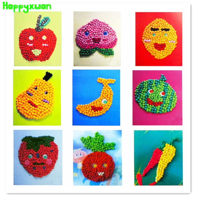 Crumpled Tissue Ball Kids Craft