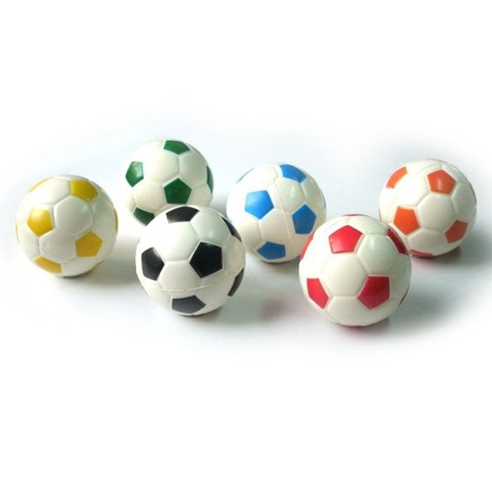 Aamina Mini Sports Balls for Kids Party Favor Toy, Soccer Ball ,(12 Pack) Squeeze Foam for Stress, Anxiety Relief, Relaxation. (12 Pack (Soccer balls))