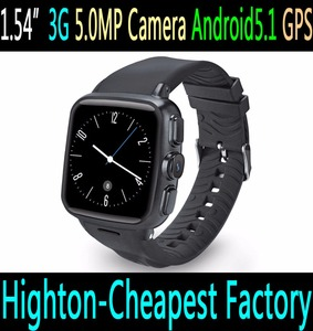 "Highton 1.54"" 1.54inch 3G Android5.1 smart watch with wifi BT android smartwatch with camera sim card android watch"