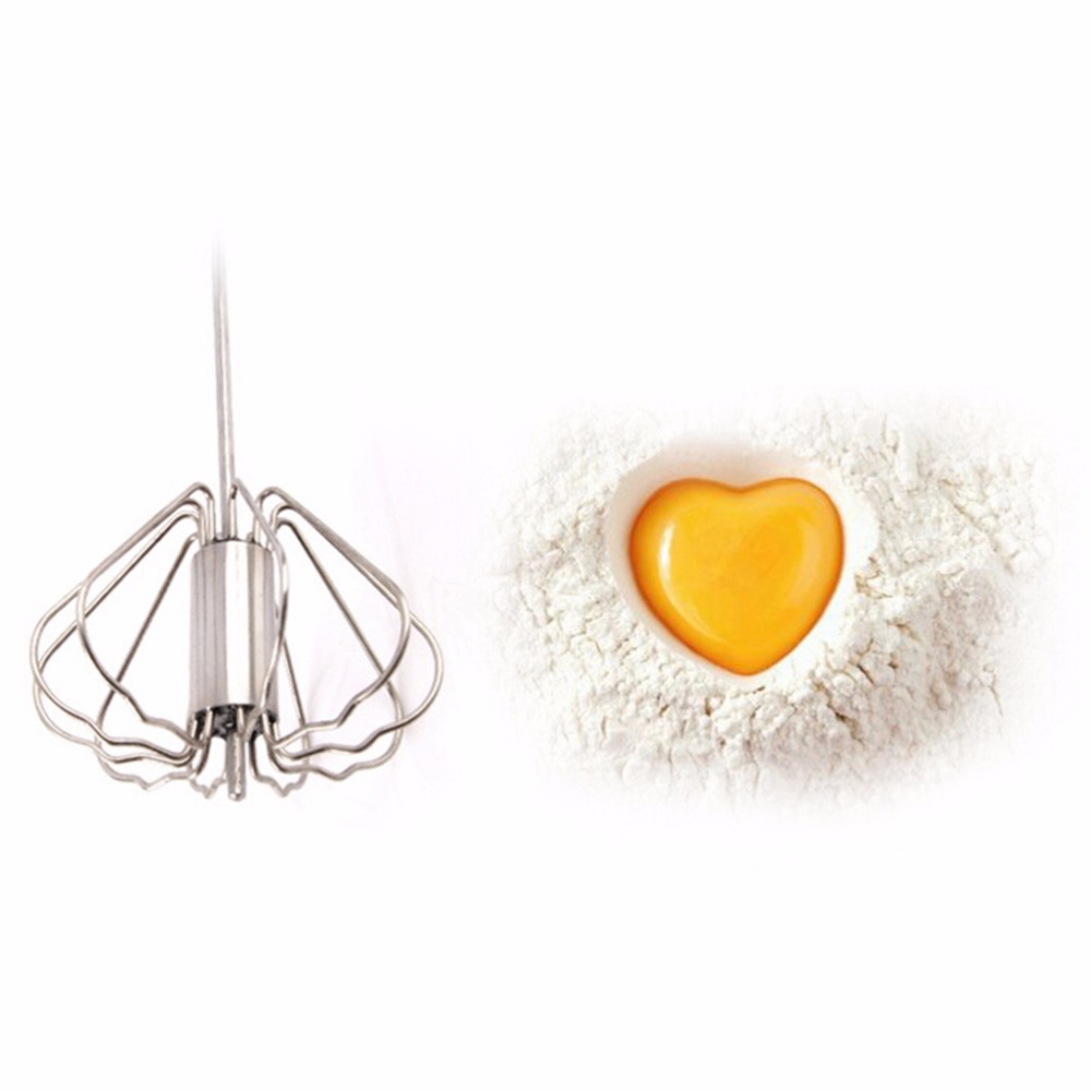 1PC Stainless Steel Hand Egg Beater Easy Whisk Mixer Egg Cream Stirrer Sauce Shaker Cake Blender Beater Mixing Tool