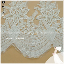 Latest 2017 hand embroidery bridal french net tulle 3d beaded lace fabric with stones