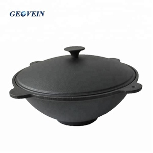 Outdoor Stock Soup Cooking Pot Metal Cast iron Cauldron for Camping