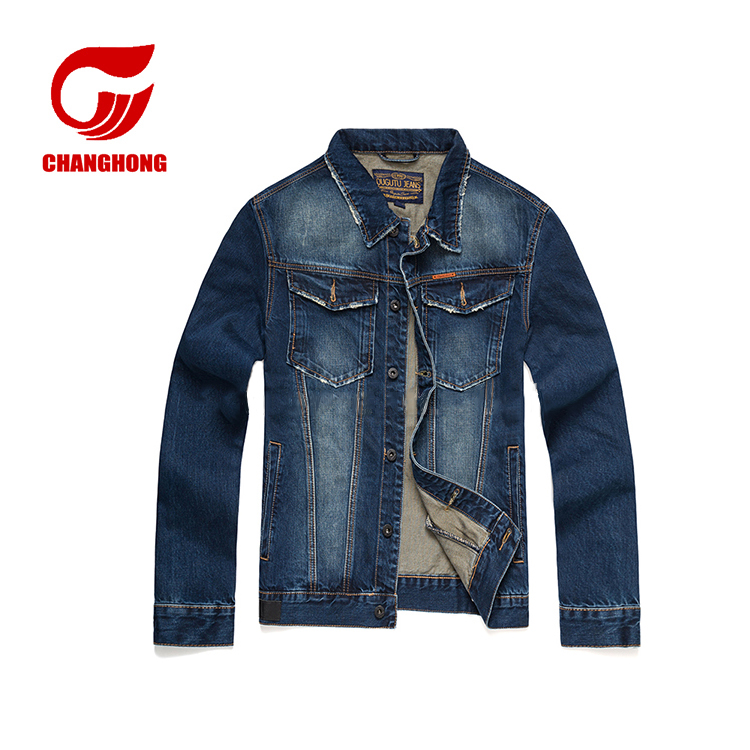 OEM service customized outdoor boyfriend jeans jacket wholesale denim jacket men