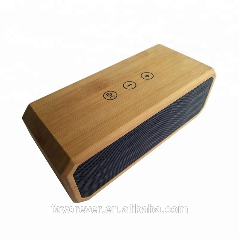 Natural Bamboo <strong>Portable</strong>,Wireless,Mini Special Feature and Active Type super bass wireless speaker 4.0