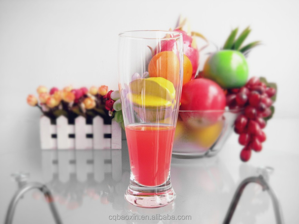 Barware/restaurant glassware good quality fancy drinking beer/juice glasses 480ml/16oz(glass factory had passed FDA/EU/SGS)