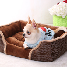 Customized wholesale supply oxford cotton pet beds for dogs