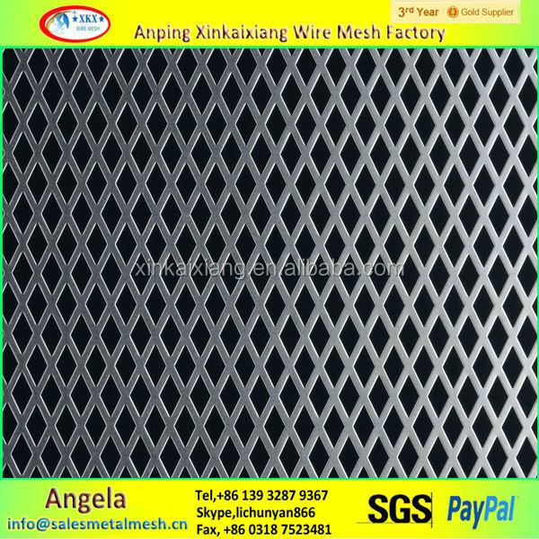 In acciaio inox lamiera stirata foglio zincato rete for Rete stirata prezzo