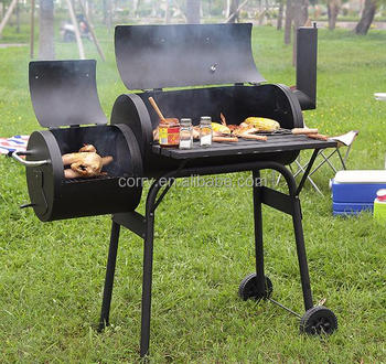 Train Style Portable Outdoor Family Barbucue Pits Charcoal Bbq