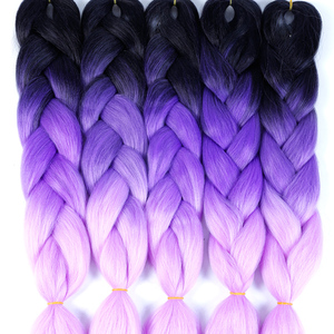 SHANGKE Ombre Jumbo Braiding Hair Extensions 24inch 100g/pack Synthetic Crochet braids Hair For Women Colored