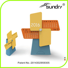 Chinese 2016 Wind models plastic desk calendar holder, wooden desk calendar