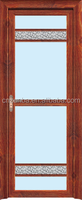 custom aluminum swing doors with double glass/ decorative glass doors with aluminuium bar