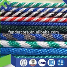 "Solid braided nylon/polyester rope 5/16"" dia with various color"