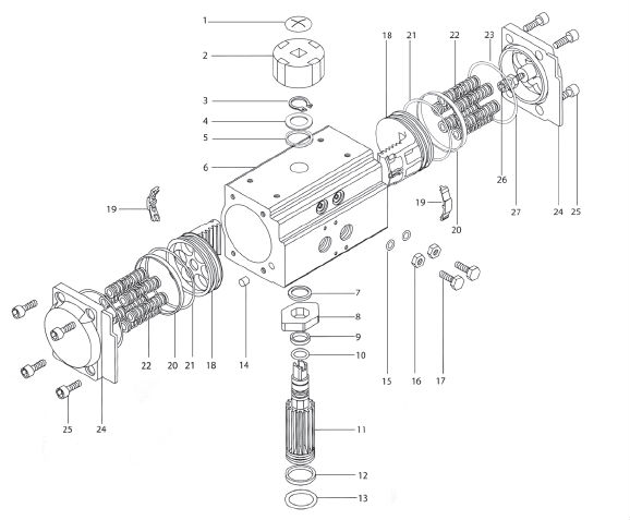 Aluminum Pneumatic Actuatorvalve Pneumatic Actuator