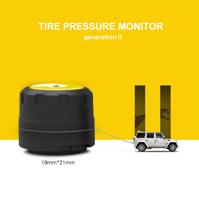 Tire Pressure Monitoring Best Cheap BLE TPMS For Android and IOS 4PCS/Set Sensors Bluetooth 4.0 Car External Sensor TPMS