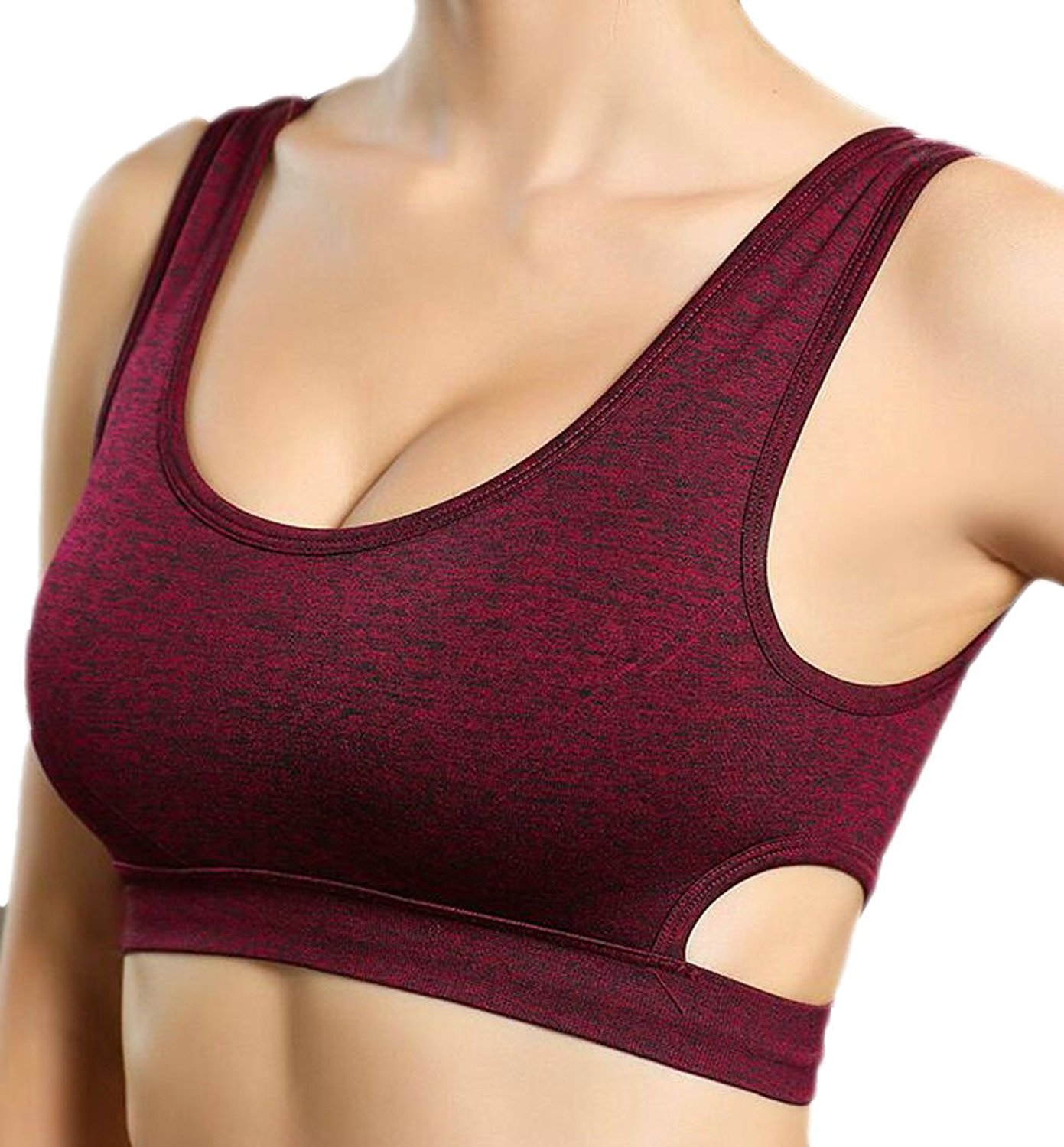 210cb51692 Get Quotations · Pandapang Womens Comfy Sport Running High Impact Support  Workout Sport Bras