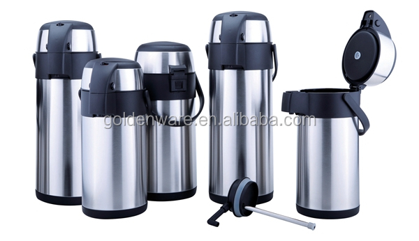Golden Ware 3L double wall stainless steel vacuum flask coffee tea pot