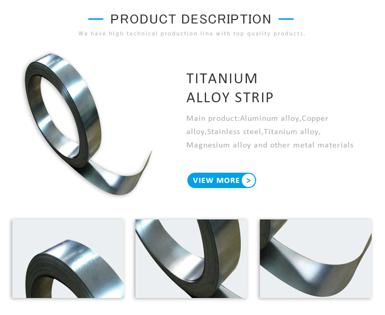 Medical Grade High Temperature Titanium Alloys Strip Applications Suppliers