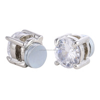 No Hole Earrings Crystal Magnetic Earrings For Men Boy woman