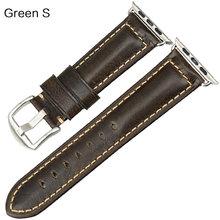 Ремешок для часов MAIKES, из вощеной кожи, 42 мм, 38 мм, 44 мм, 40 мм, серия 4, 3, 2(Китай)