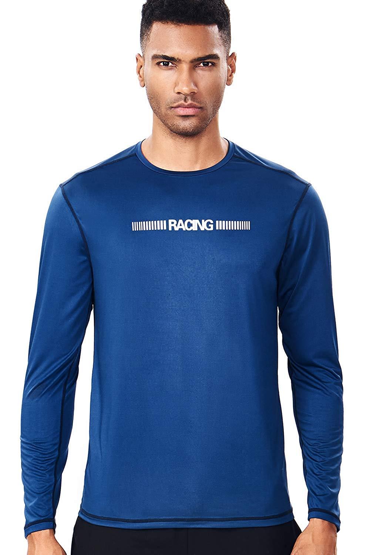 33028791a5f1 Get Quotations · Zengjo Moisture Wicking Shirts Mens Trail Running Shirt  Soft Long Sleeve T Shirt Men