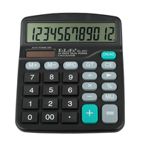 High Quality Office Simple Design Digital Display Dual Power 12 Digits Desktop Scientific Solar Calculator