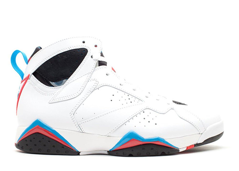 wholesale dealer 2c7d2 6e62f Get Quotations · Ambar Zuiga Jurado Synthetic Basketball Shoe Air Jordan 7  Retro orion White orion blue black infrared